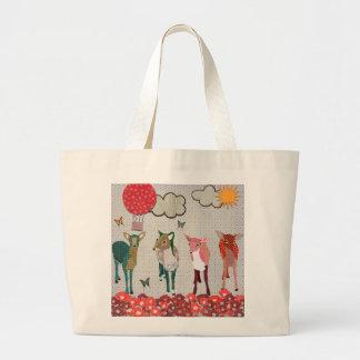 O mais caro saco do dia ensolarado dos cervos sacola tote jumbo
