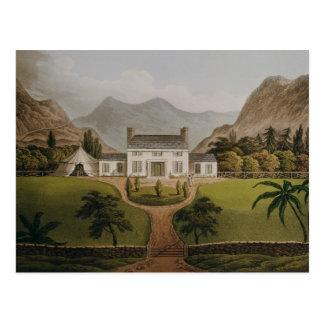 O Mal-Maison de Bonaparte em St Helena, 1821 Cartão Postal