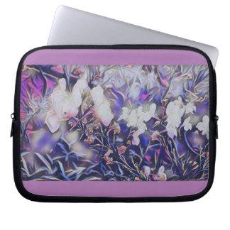 O malva mágico floresce a bolsa de laptop do capas para notebook