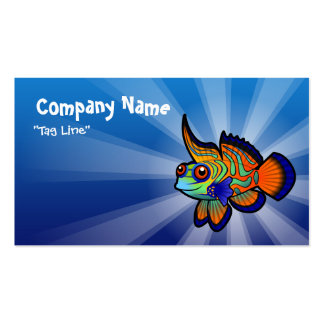 O mandarino dos desenhos animados/peixes de cartão de visita