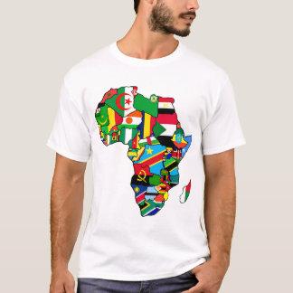 O mapa africano de bandeiras de África dentro do Camiseta