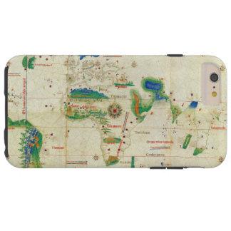 O mapa do mundo do Planisphere de Cantino (1502) Capa Tough Para iPhone 6 Plus