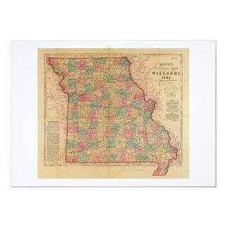 O mapa oficial de Lloyd de Missouri (1861) Convite 12.7 X 17.78cm