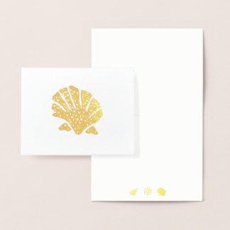 O mar da folha descasca o cartão de nota da cartão metalizado