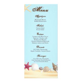 O mar da praia de 25 cartões do menu descasca a 10.16 x 22.86cm panfleto