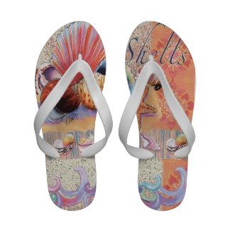 O mar descasca flip-flops