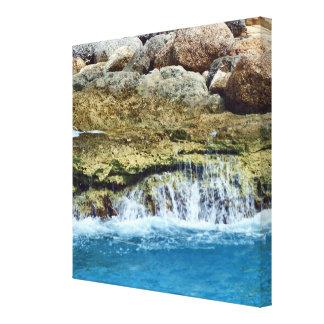 O mar lavado balança canvas impressão em tela