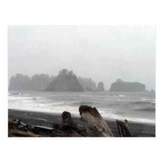 O mar olímpico da península empilha o cartão