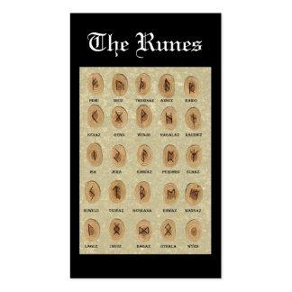 O marcador dos Runes Cartoes De Visitas