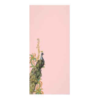 O marcador filigrana do cartão da cremalheira do 10.16 x 22.86cm panfleto