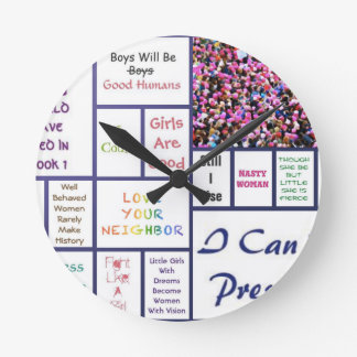 O março das mulheres relógio redondo