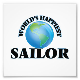 O marinheiro o mais feliz do mundo impressão de foto
