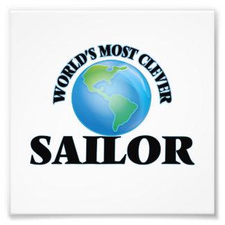 O marinheiro o mais inteligente do mundo impressão de foto