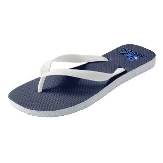 O marinho CapoHeads Flip-Flops o logotipo de Chinelos