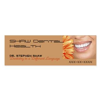 o marketing do bot, SHAW dental cura… Cartão De Visita Skinny