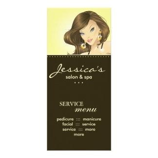 O marketing do salão de beleza carda o amarelo 10.16 x 22.86cm panfleto