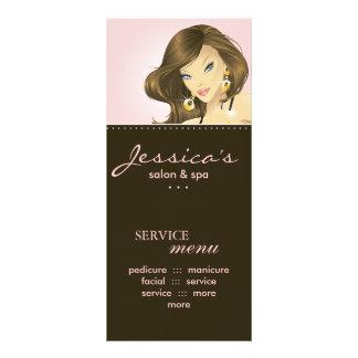 O marketing do salão de beleza carda o rosa bonito 10.16 x 22.86cm panfleto