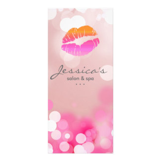 O marketing do salão de beleza carda os lábios & 10.16 x 22.86cm panfleto