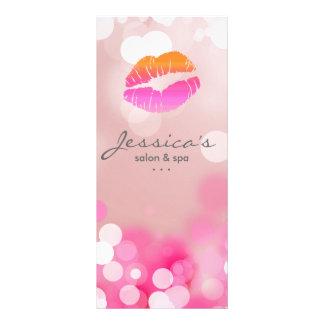 O marketing do salão de beleza carda os lábios & l 10.16 x 22.86cm panfleto