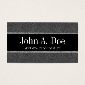 O mármore da empresa de advocacia do advogado do cartão de visitas