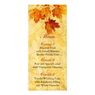 o marrom do outono da queda deixa o menu do