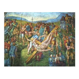 O martírio de St Peter Cartoes Postais