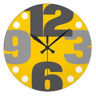 O máximo - amarelo relógio para parede