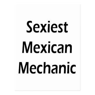 """O mecânico mexicano o mais """"sexy"""" cartoes postais"""