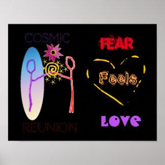"O ""medo sente poster do amor"""