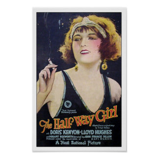 O meio cartaz cinematográfico do vintage da menina poster