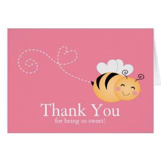 O mel doce Bumble o obrigado da abelha você cartão