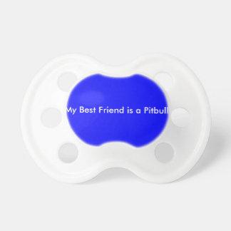 o melhor amigo é um pacifier do pitbull chupeta para bebê