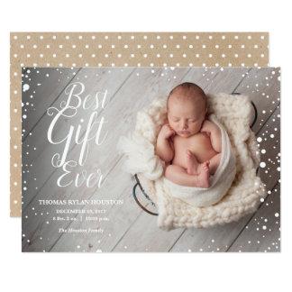O melhor anúncio do inverno do Natal do bebê do