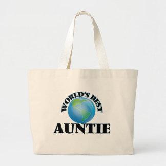 O melhor Auntie do mundo Bolsa Tote Grande