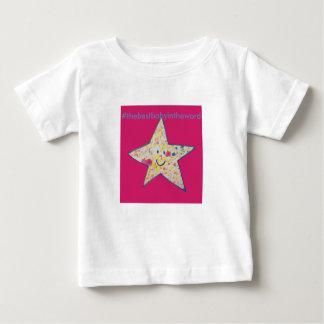 O melhor bebê no mundo camiseta para bebê
