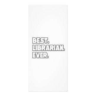 O melhor bibliotecário nunca planfeto informativo colorido