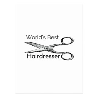 O melhor cabeleireiro do mundo cartão postal