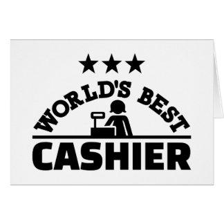 O melhor caixa do mundo cartão comemorativo