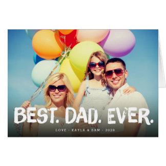O melhor cartão da foto do dia dos pais do pai