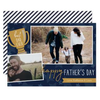 O melhor cartão da foto do prêmio do pai