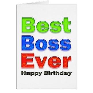 O melhor cartão de aniversário do chefe nunca para