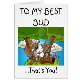 O melhor cartão de cumprimentos do botão