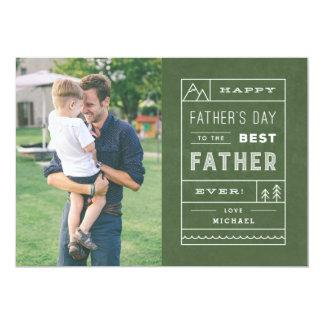 O melhor cartão do dia dos pais do pai - exército convite 12.7 x 17.78cm