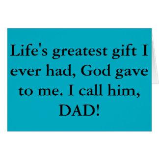 O melhor cartão do dia dos pais nunca!