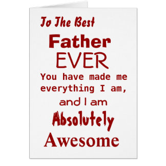 O melhor cartão sempre engraçado do pai do pai