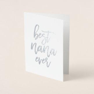 O melhor cartão sempre real da folha de Nana