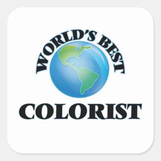 O melhor Colorist do mundo Adesivos Quadrados