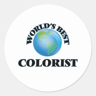 O melhor Colorist do mundo Adesivo Redondo