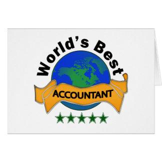 O melhor contador do mundo cartão comemorativo