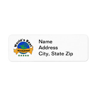 O melhor contador do mundo etiqueta endereço de retorno